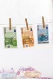 Euro blanchiment d'argent images stock