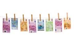 Euro blanchiment d'argent photo libre de droits