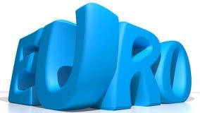 EURO blue Stock Image