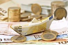 Euro boot Royalty-vrije Stock Foto's