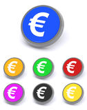 Euro boutons ou graphismes Photo stock