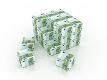 Euro boxes in pile Stock Images
