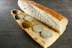 Euro bread sandwich menu, concept Stock Photos