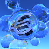 Euro bubble Royalty Free Stock Images