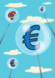 Euro Bubble Stock Image