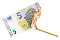 Euro burn Royalty Free Stock Photos
