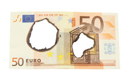 Euro burn Stock Photos
