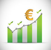 Euro business graph illustration design Royalty Free Stock Image