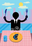 Euro Business Lunch Stock Photography