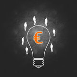 Euro Business success and the management process Stock Image