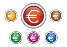 Euro button Royalty Free Stock Image