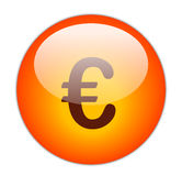 Euro Button Stock Photo