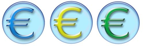 Euro buttons Royalty Free Stock Photo
