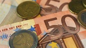 Euro- cédula de Ffifty video estoque