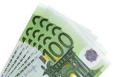 Euro 100 cédulas Imagem de Stock Royalty Free