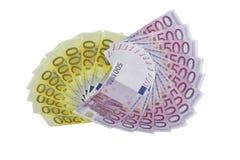 Euro- cédulas Fotos de Stock Royalty Free