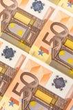 50 euro- cédulas Fotos de Stock
