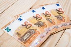 50 euro- cédulas novas Fotografia de Stock