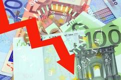 EURO CADUTA Fotografie Stock Libere da Diritti
