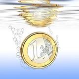 Euro cadute Fotografia Stock Libera da Diritti