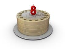 Euro cake. Eight years of euro money Stock Photo