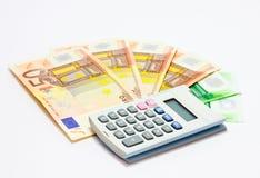 Euro calcolatore Fotografia Stock Libera da Diritti
