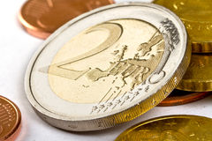 Euro cambiamento Fotografie Stock