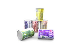 Euro cans Royalty Free Stock Images