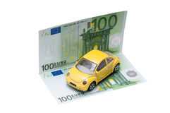 Euro car cost Royalty Free Stock Image