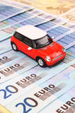 Euro Car Costs. A general metaphor for car finance, sale, debt and costs Stock Images