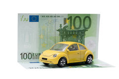 Euro car costs Royalty Free Stock Image