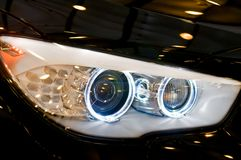 Euro Car Headlight Stock Photo