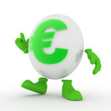Euro carattere Fotografia Stock Libera da Diritti
