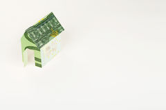 Euro cardboard house Stock Photos