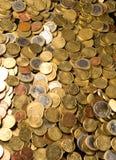 Euro carpet. Euros carpet. European coins as a background Royalty Free Stock Photos
