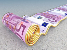 Euro carpet Stock Image