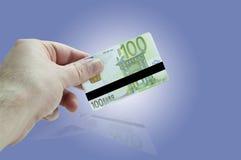 Euro- cartão de crédito Foto de Stock