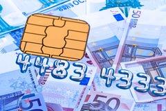 Euro carta di credito Fotografia Stock Libera da Diritti