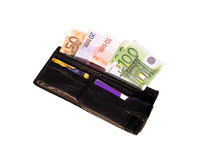 Euro- carteira Foto de Stock