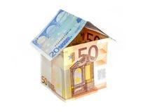Euro- casa imagens de stock