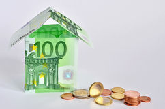 Euro casa fotografie stock libere da diritti