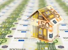Euro- casa Foto de Stock