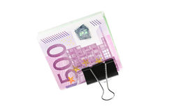 500 euro cash in clip Royalty Free Stock Images
