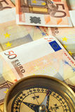 Euro cash on course 1 Stock Images