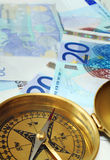 Euro cash on course 2 Royalty Free Stock Photography
