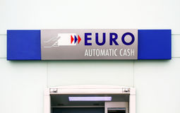 Euro cash machine sign Royalty Free Stock Image