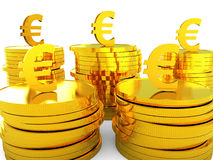 Euro Cash Represents Money Revenue And Wealth Royalty Free Stock Photos