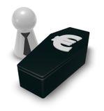 Euro casket Royalty Free Stock Image