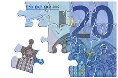 Euro cassez vers le haut Photographie stock