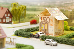 Euro- cenário da casa Foto de Stock Royalty Free